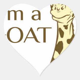 moo im a goat heart sticker