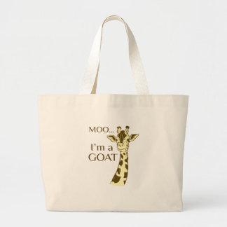 moo im a goat large tote bag