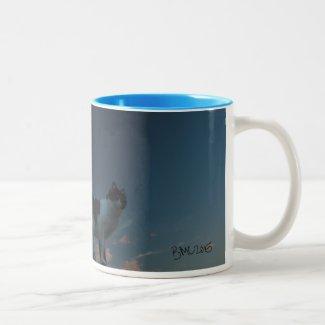 Moo in the Sky Two-Tone Coffee Mug