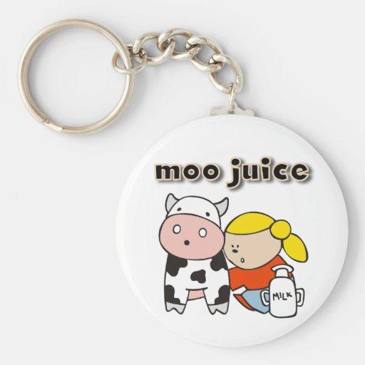 Moo Juice Key Chain