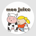Moo Juice Tshirts and Gifts Classic Round Sticker