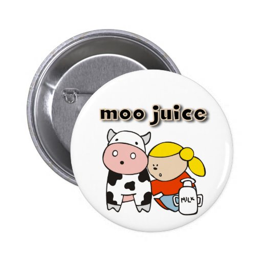 Moo Juice Tshirts and Gifts Pinback Button