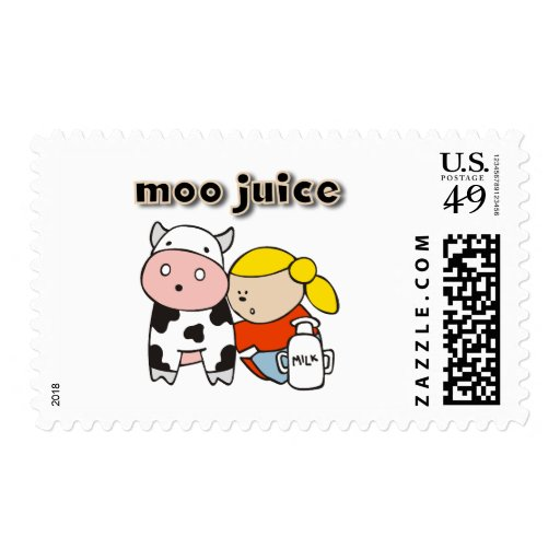 Moo Juice Tshirts and Gifts Postage Stamp