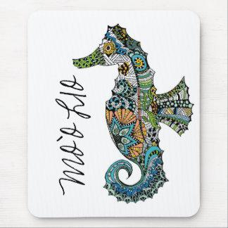 Mo'o Lio Original Art Hawaiian Seahorse Mouse Pad