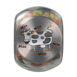 moo moo cow glass candy jar