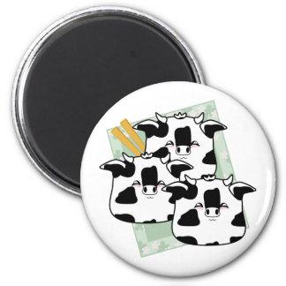 Moo Moo Dumplings Platter 2 Inch Round Magnet