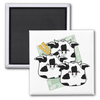Moo Moo Dumplings Platter 2 Inch Square Magnet