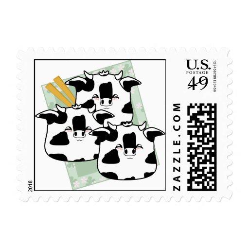 Moo Moo Dumplings Platter Stamps