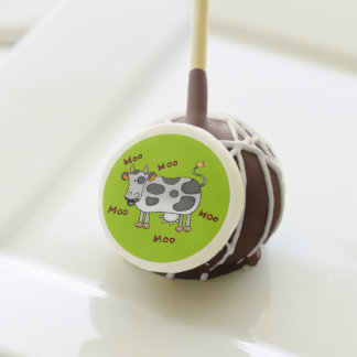 moo moo farm cow cake pops