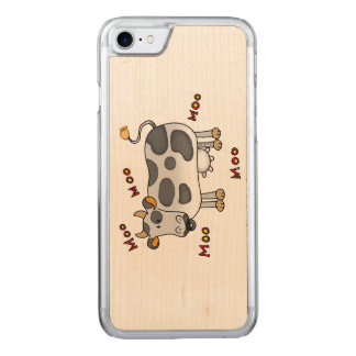 moo moo farm cow carved iPhone 7 case