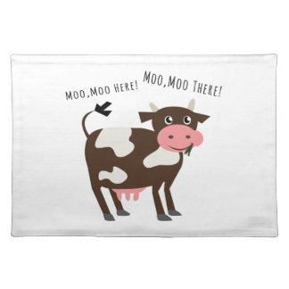 Moo Moo Here Cloth Place Mat