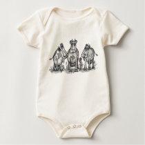 Moo, Moo, Moo Cow Baby Bodysuit
