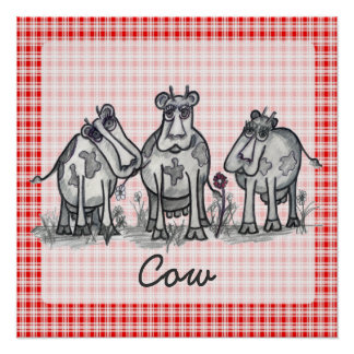 Moo, Moo, Moo, Cow Poster