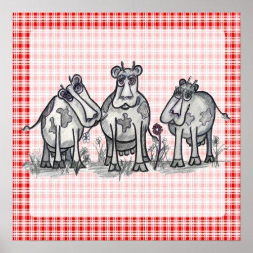 Moo, Moo, Moo, Cow Posters