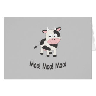 Moo! Moo! Moo! Cute Cow Card