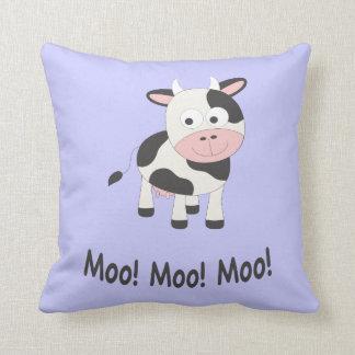 Moo! Moo! Moo! Cute Cow Throw Pillow
