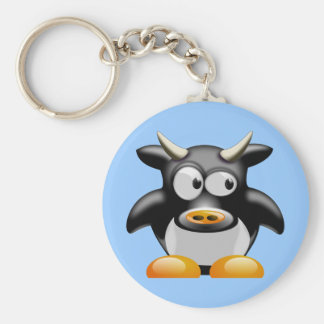 Moo Moo the Cow Basic Round Button Keychain