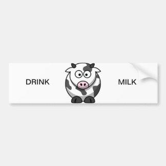 """Moo-Moo The Cow""-Drink Milk Bumper Sticker"