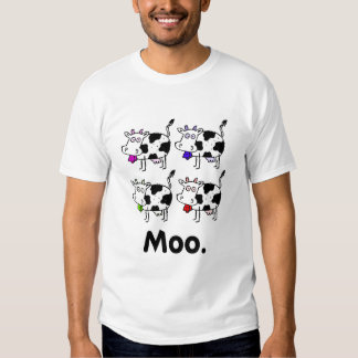 MOO. - Multicolored Cow Shirt