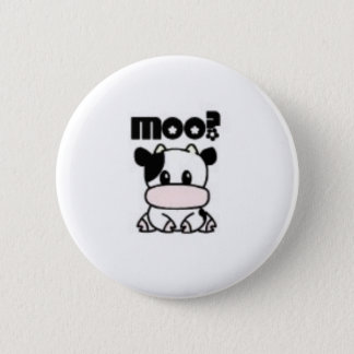Moo? Pinback Button