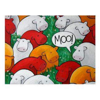 'Moo!' Postcards