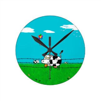 Moo Round Clock