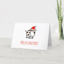 Moo-ry Christmas Holiday Card
