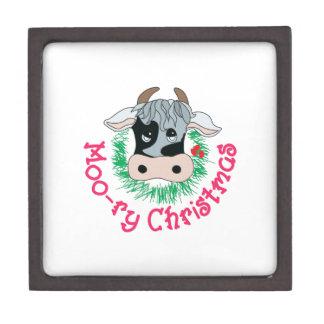 Moo-ry Christmas Premium Trinket Boxes