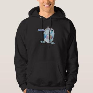 moo silly cartoon milk character hoodie