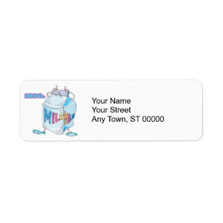 moo silly cartoon milk character label