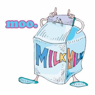 moo silly cartoon milk character standing photo sculpture