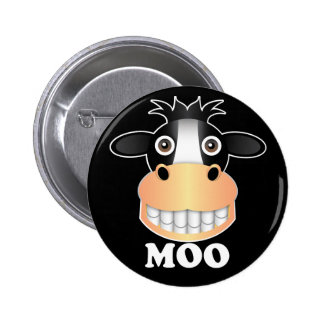 Moo - Standard, 2¼ Inch Round Button Button