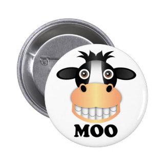 Moo - Standard, 2¼ Inch Round Button Pinback Button