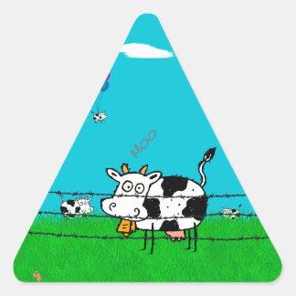 Moo Triangle Sticker