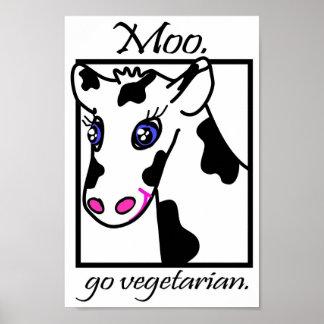 MOO. Va el vegetariano Póster