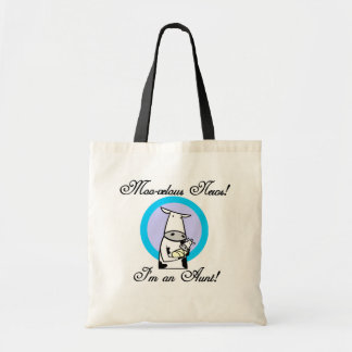 Moo-velous New Aunt Tshirts and Gifts Budget Tote Bag