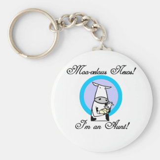 Moo-velous New Aunt Tshirts and Gifts Keychain