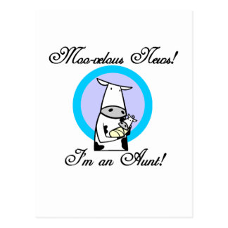 Moo-velous New Aunt Tshirts and Gifts Postcard