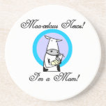 Moo-velous New Mom Gifts Beverage Coaster