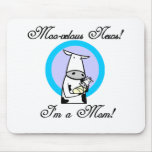 Moo-velous New Mom Tshirts and Gifts Mouse Pad
