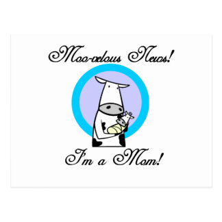 Moo-velous New Mom Tshirts and Gifts Postcard