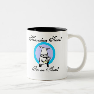MOO-velous nueva tía Tshirts y regalos Taza De Café