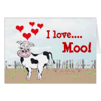 Moo...velous the Cow - Valentine's Day Card