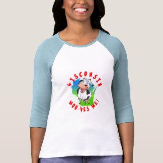 ¡MOO-ves de Wisconsin yo!  camiseta de la manga Polera