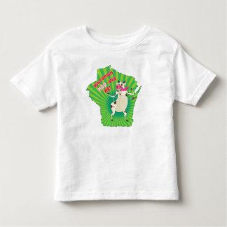 ¡MOO-ves de Wisconsin yo! Camiseta maravillosa de Poleras