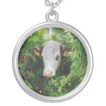 MOO WHO? SILVER PLATED NECKLACE