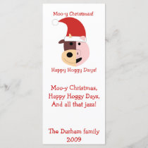 Moo-y Christmas and Happy Hoggy Days!