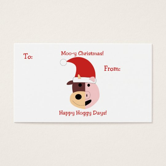 Moo-y Christmas and Happy Hoggy Days! Business Card