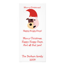 Moo-y Christmas and Happy Hoggy Days! Rack Card