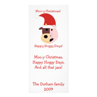 Moo-y Christmas and Happy Hoggy Days! Rack Card